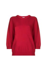 Jersey con cuello circular rojo de Chloé