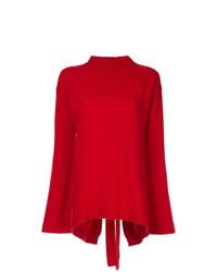 Jersey con cuello circular rojo de Ellery