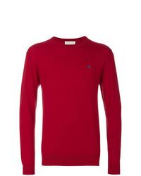 Jersey con cuello circular rojo de Etro