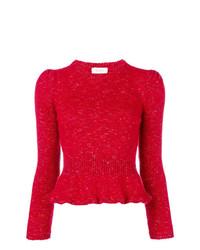 Jersey con cuello circular rojo de Isa Arfen