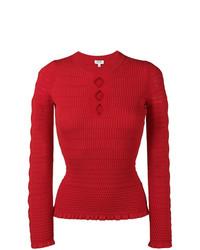 Jersey con cuello circular rojo de Kenzo