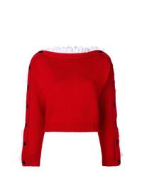 Jersey con cuello circular rojo de Philosophy di Lorenzo Serafini