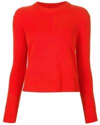 Jersey con cuello circular rojo de Rag & Bone