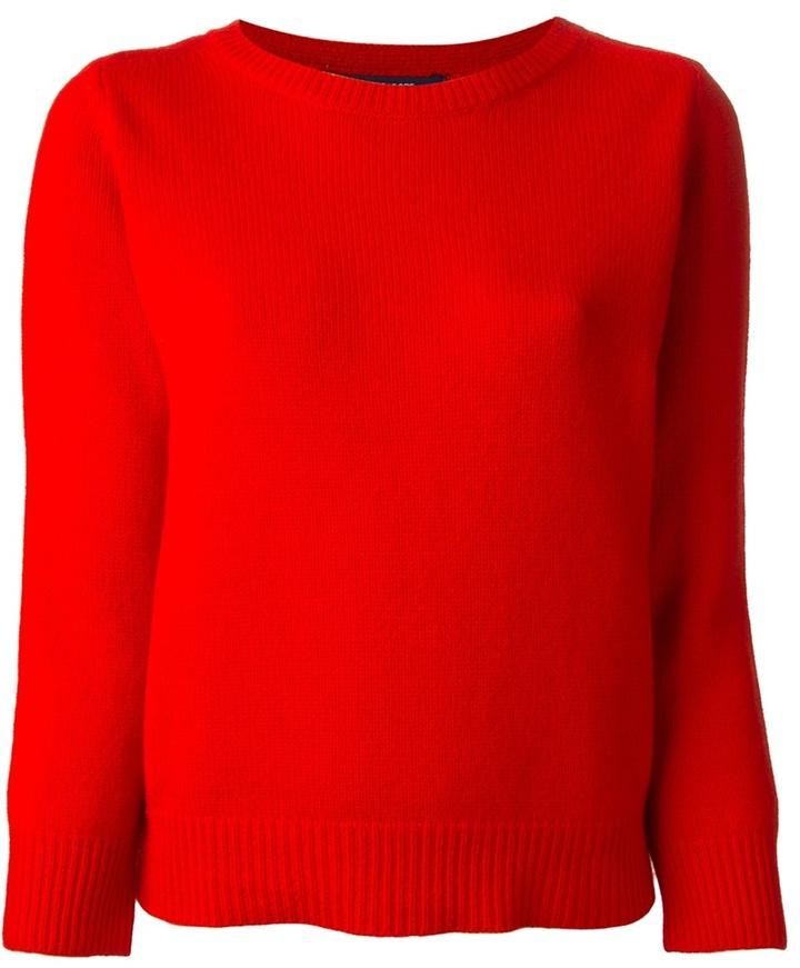 Jersey con cuello circular rojo de Sofie D'hoore