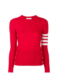 Jersey con cuello circular rojo de Thom Browne