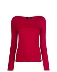 Jersey con cuello circular rojo de Twin-Set