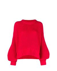 Jersey con cuello circular rojo de Zadig & Voltaire