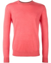 Jersey con cuello circular rosa de Paul Smith