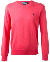 Jersey con cuello circular rosa de Ralph Lauren