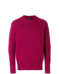 Jersey con cuello circular rosa de Roberto Collina