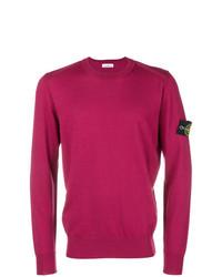 Jersey con cuello circular rosa de Stone Island