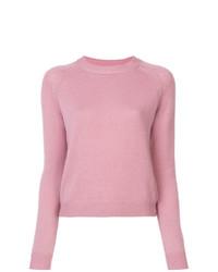 Jersey con cuello circular rosado de Alexandra Golovanoff