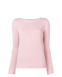 Jersey con cuello circular rosado de Aragona
