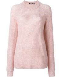 Jersey con cuello circular rosado de BLK DNM