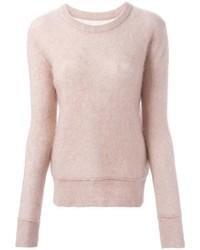 Jersey con cuello circular rosado de By Malene Birger