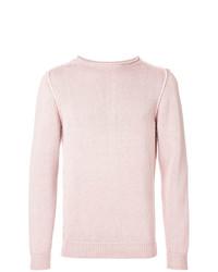 Jersey con cuello circular rosado de Dondup