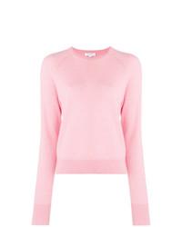 Jersey con cuello circular rosado de Equipment