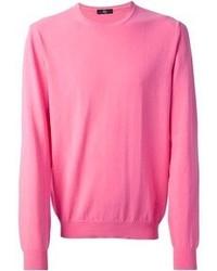 Jersey con cuello circular rosado de Fay