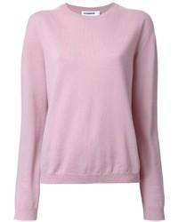Jersey con cuello circular rosado de Jil Sander