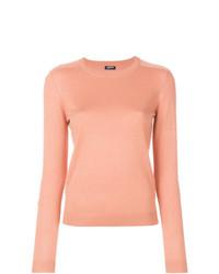 Jersey con cuello circular rosado de Jil Sander Navy