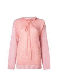 Jersey con cuello circular rosado de JW Anderson