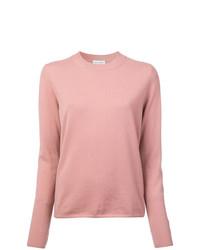 Jersey con cuello circular rosado de Mansur Gavriel
