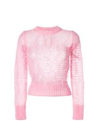 Jersey con cuello circular rosado de N°21