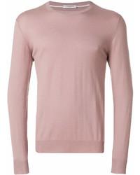 Jersey con cuello circular rosado de Paolo Pecora