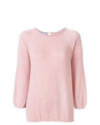 Jersey con cuello circular rosado de Prada