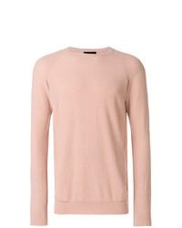 Jersey con cuello circular rosado de Roberto Collina