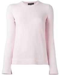Jersey con cuello circular rosado de Salvatore Ferragamo