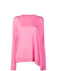Jersey con cuello circular rosado de Stella McCartney