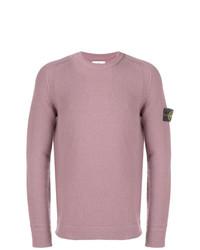 Jersey con cuello circular rosado de Stone Island
