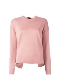 Jersey con cuello circular rosado de Theory