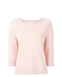 Jersey con cuello circular rosado de Zanone