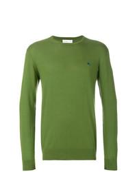 Jersey con cuello circular verde oliva de Etro