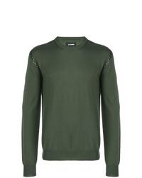 Jersey con cuello circular verde oliva de Les Hommes