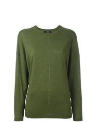 Jersey con cuello circular verde oliva de Steffen Schraut