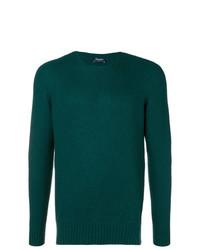 Jersey con cuello circular verde oscuro de Drumohr