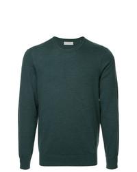 Jersey con cuello circular verde oscuro de Gieves & Hawkes