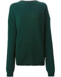 Jersey con cuello circular verde oscuro de Haider Ackermann