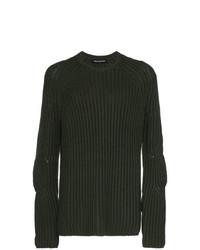 Jersey con cuello circular verde oscuro de Neil Barrett