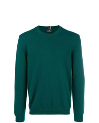 Jersey con cuello circular verde oscuro de Ps By Paul Smith