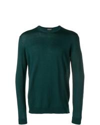Jersey con cuello circular verde oscuro de Roberto Collina