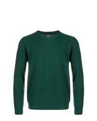Jersey con cuello circular verde oscuro de Woolrich