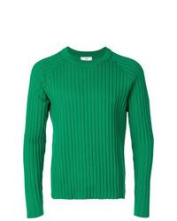 Jersey con cuello circular verde de AMI Alexandre Mattiussi