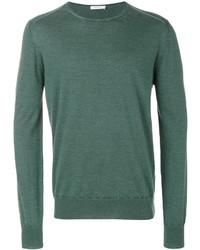 Jersey con cuello circular verde de Boglioli