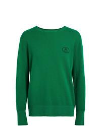 Jersey con cuello circular verde de Burberry