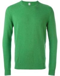 Jersey con cuello circular verde de Eleventy