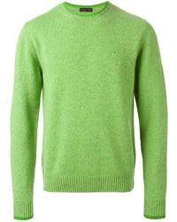 Jersey con cuello circular verde de Etro